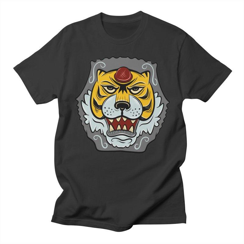La Tigre Della Strada Men's T-shirt by Pat Higgins Illustration