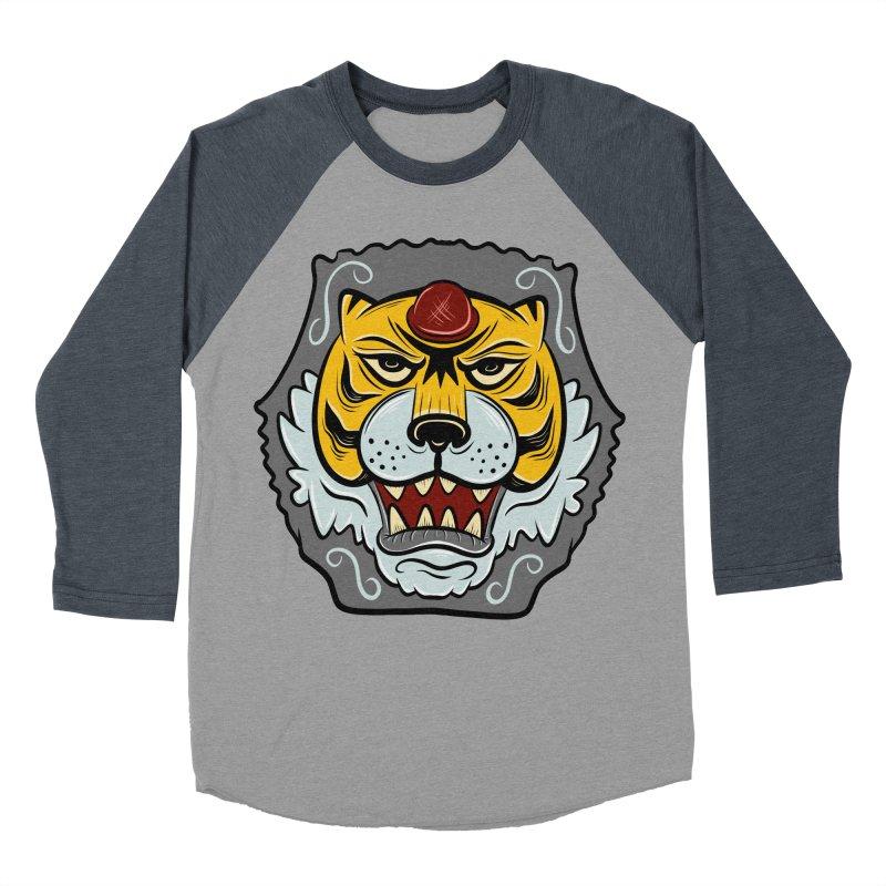 La Tigre Della Strada Women's Baseball Triblend T-Shirt by Pat Higgins Illustration