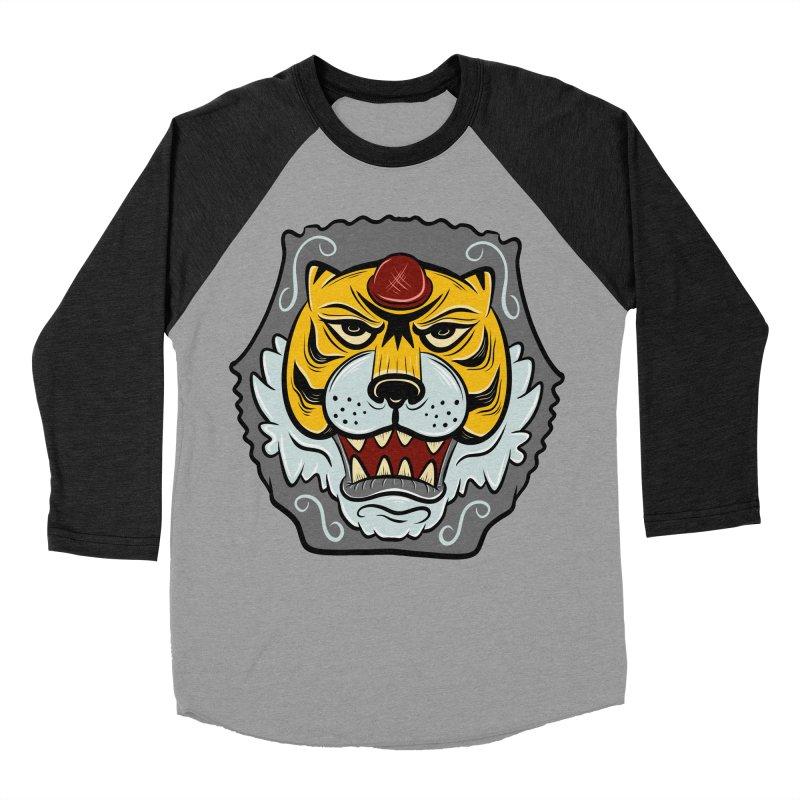 La Tigre Della Strada Men's Baseball Triblend T-Shirt by Pat Higgins Illustration