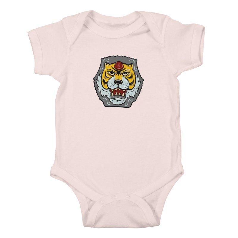 La Tigre Della Strada Kids Baby Bodysuit by Pat Higgins Illustration