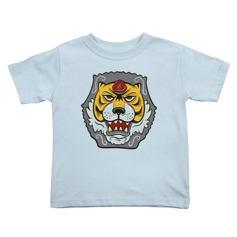 La Tigre Della Strada Kids Toddler T-Shirt by Pat Higgins Illustration