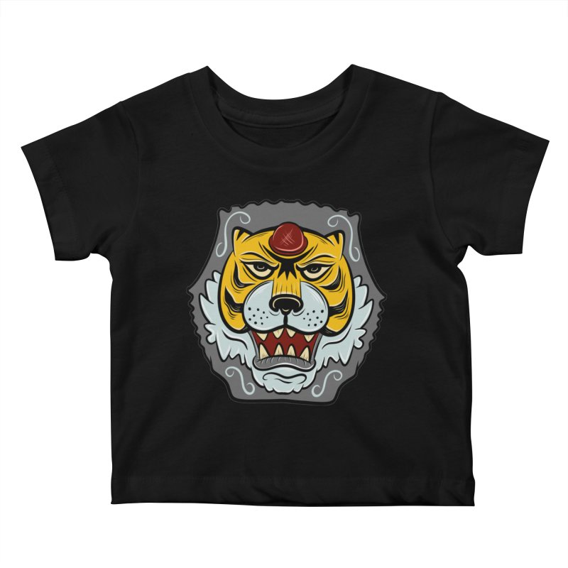 La Tigre Della Strada Kids Baby T-Shirt by Pat Higgins Illustration
