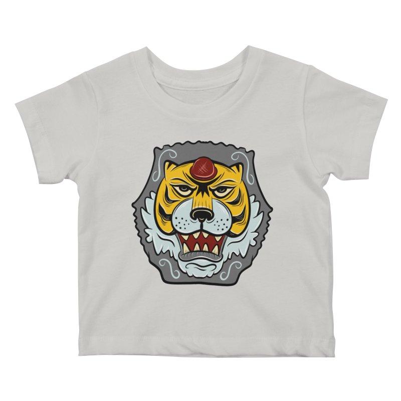La Tigre Della Strada Kids Baby T-Shirt by Pat Higgins Illustration
