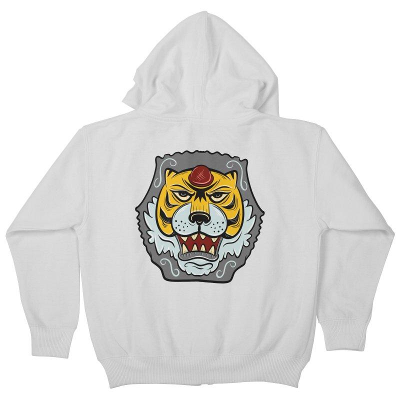 La Tigre Della Strada Kids Zip-Up Hoody by Pat Higgins Illustration