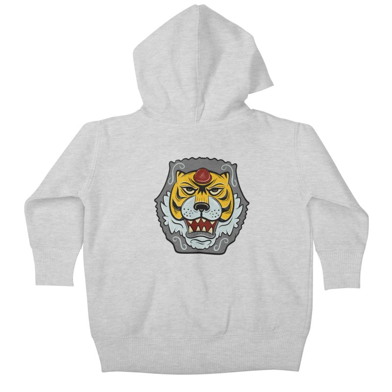 La Tigre Della Strada Kids Baby Zip-Up Hoody by Pat Higgins Illustration