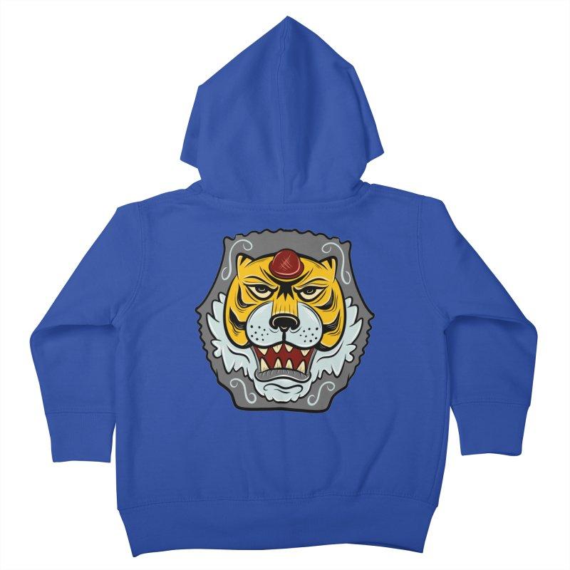 La Tigre Della Strada Kids Toddler Zip-Up Hoody by Pat Higgins Illustration