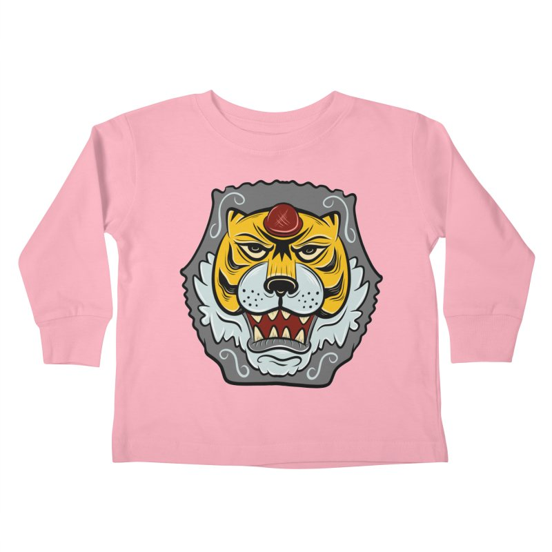 La Tigre Della Strada Kids Toddler Longsleeve T-Shirt by Pat Higgins Illustration