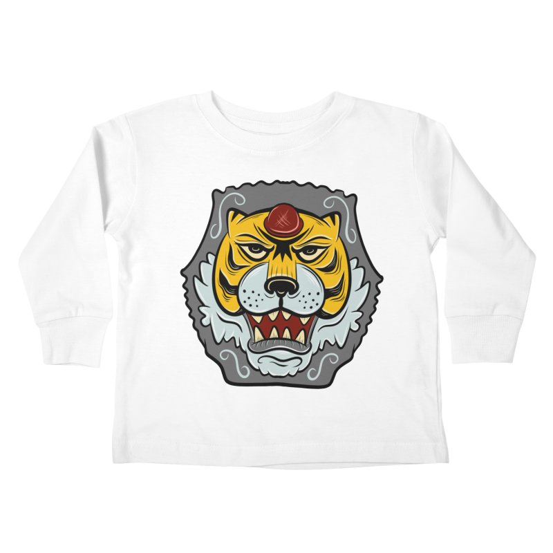 La Tigre Della Strada Kids Toddler Longsleeve T-Shirt by Pat Higgins Illustration