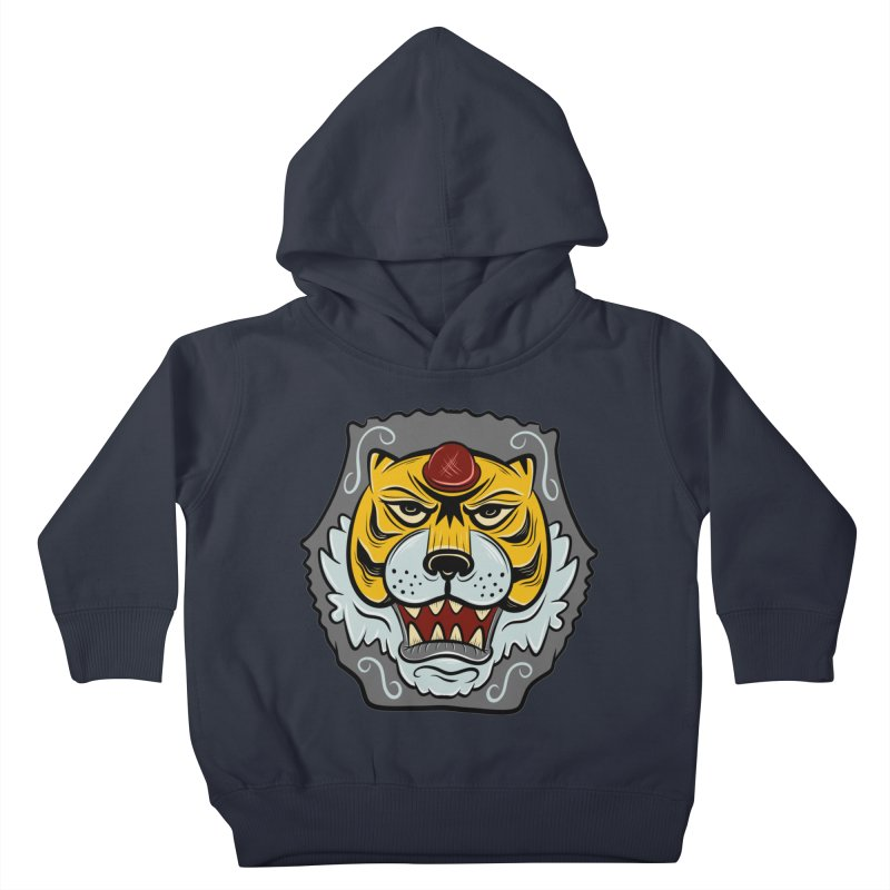 La Tigre Della Strada Kids Toddler Pullover Hoody by Pat Higgins Illustration