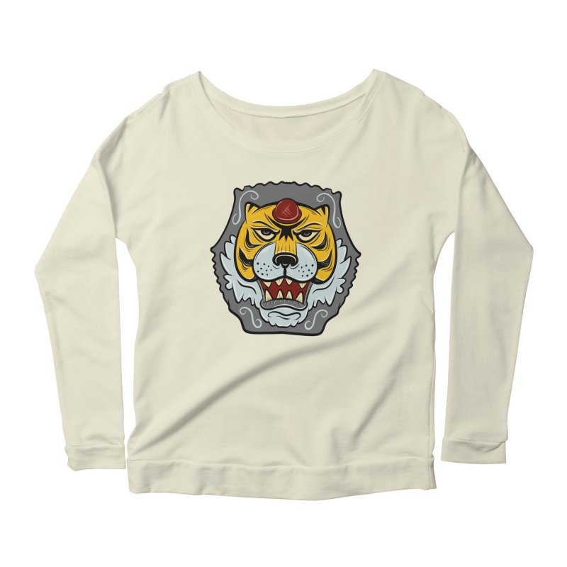 La Tigre Della Strada Women's Longsleeve Scoopneck  by Pat Higgins Illustration