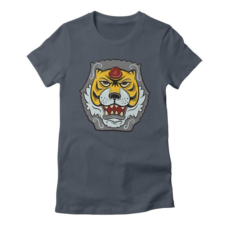La Tigre Della Strada Women's Fitted T-Shirt by Pat Higgins Illustration