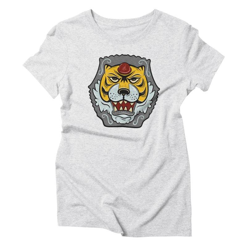 La Tigre Della Strada Women's Triblend T-Shirt by Pat Higgins Illustration