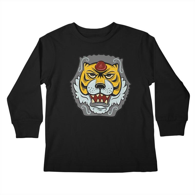 La Tigre Della Strada Kids Longsleeve T-Shirt by Pat Higgins Illustration