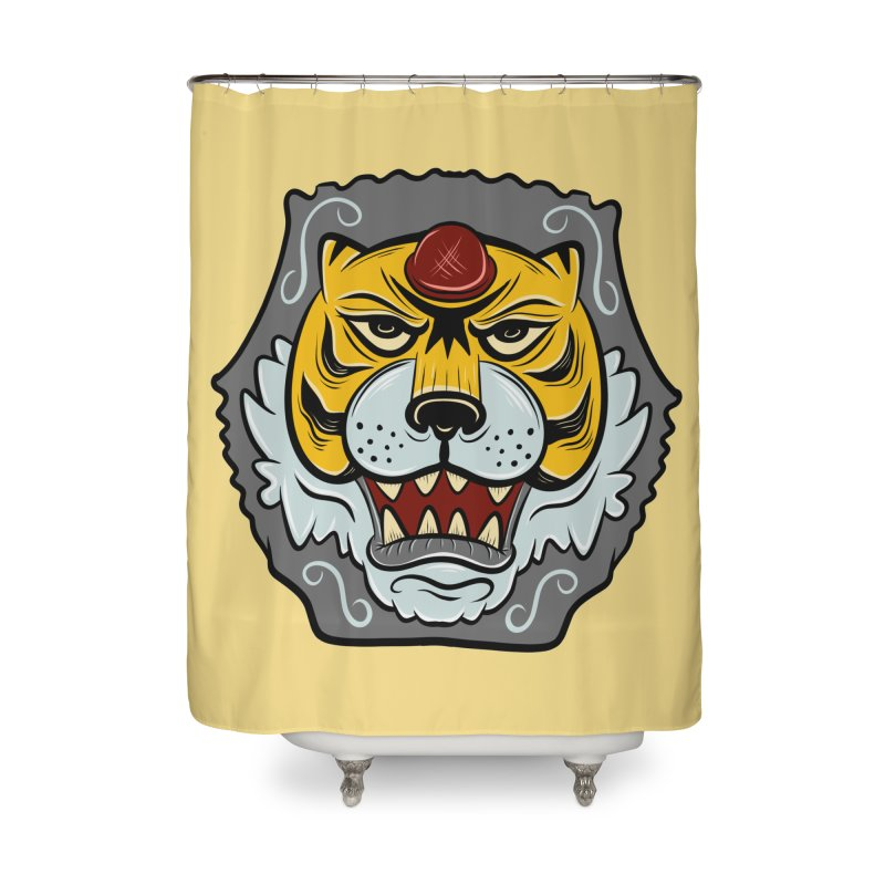 La Tigre Della Strada Home Shower Curtain by Pat Higgins Illustration