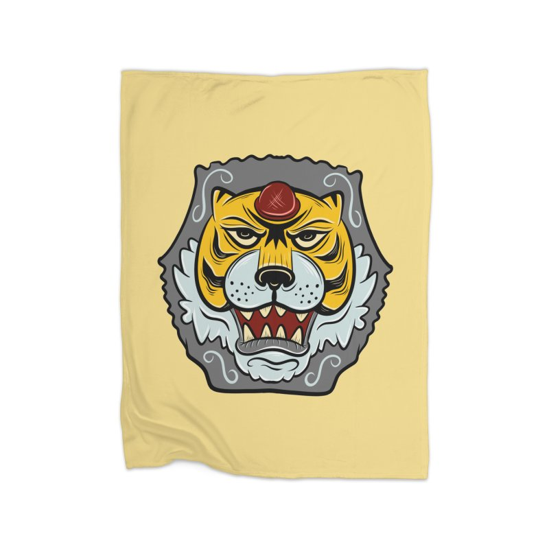 La Tigre Della Strada Home Blanket by Pat Higgins Illustration