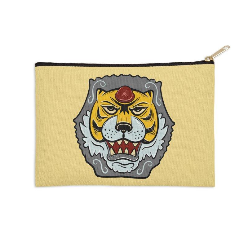La Tigre Della Strada Accessories Zip Pouch by Pat Higgins Illustration