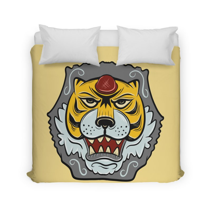 La Tigre Della Strada Home Duvet by Pat Higgins Illustration