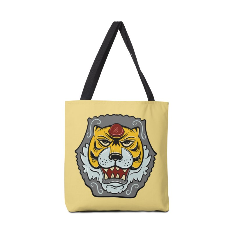 La Tigre Della Strada Accessories Bag by Pat Higgins Illustration