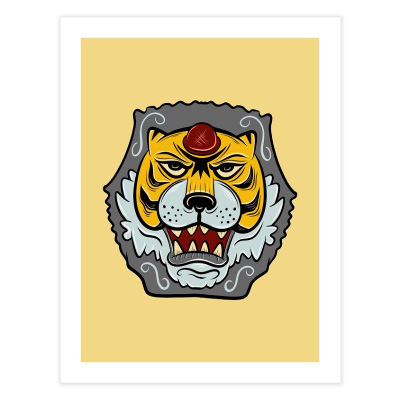 La Tigre Della Strada Home Fine Art Print by Pat Higgins Illustration