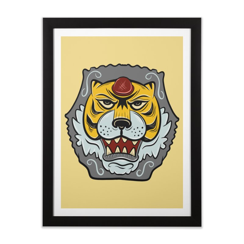 La Tigre Della Strada Home Framed Fine Art Print by Pat Higgins Illustration