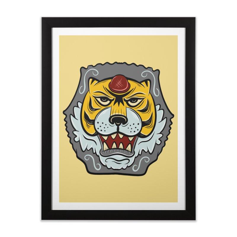 La Tigre Della Strada Home Framed Fine Art Print by Pat Higgins Illustration