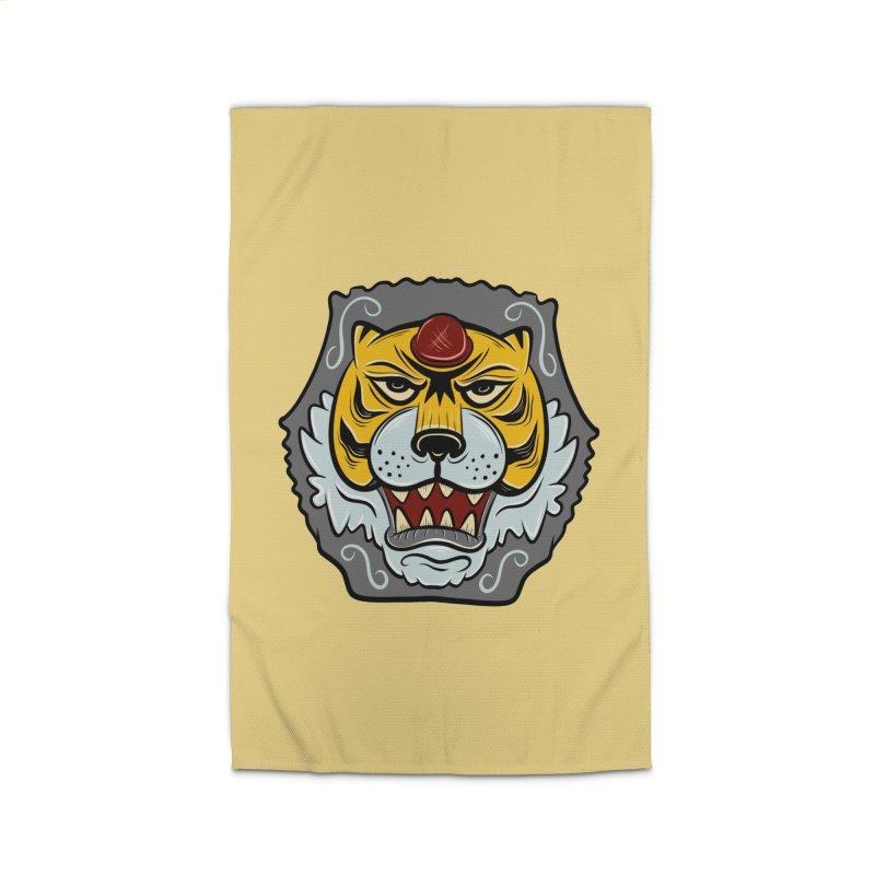 La Tigre Della Strada Home Rug by Pat Higgins Illustration