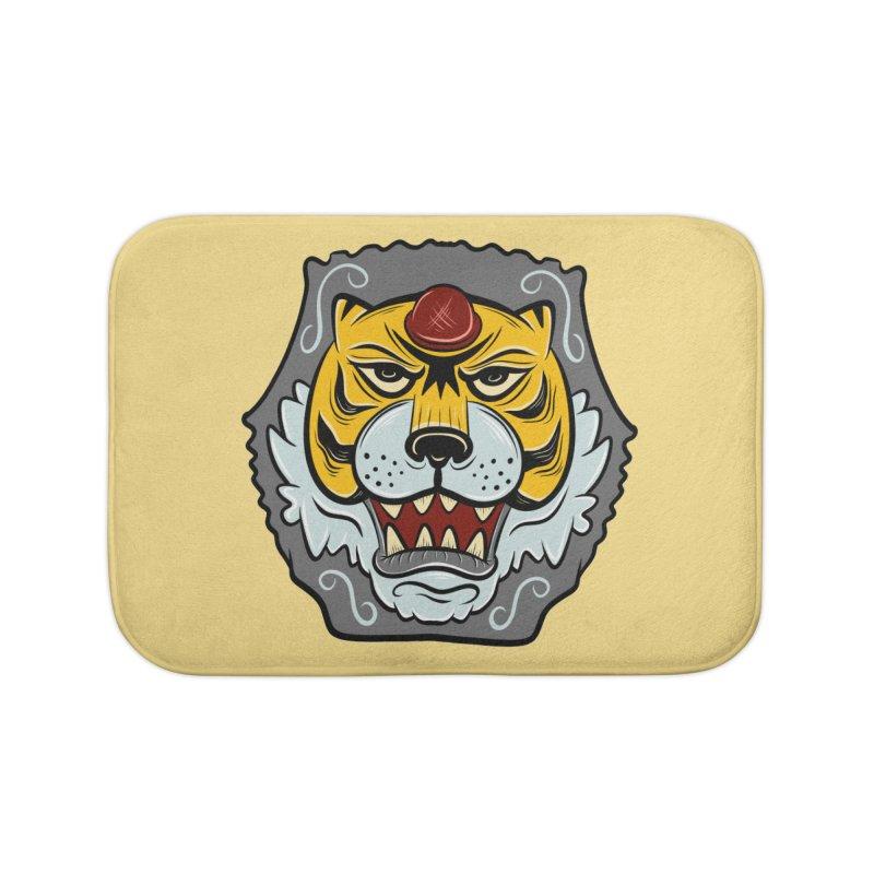 La Tigre Della Strada Home Bath Mat by Pat Higgins Illustration