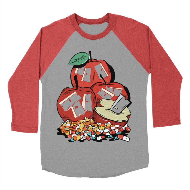 Trick or Treat Women's Baseball Triblend T-Shirt by Pat Higgins Illustration