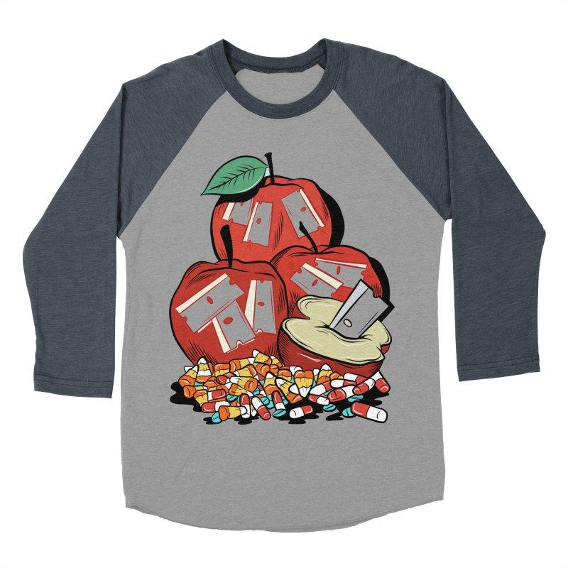 Trick or Treat Men's Baseball Triblend T-Shirt by Pat Higgins Illustration