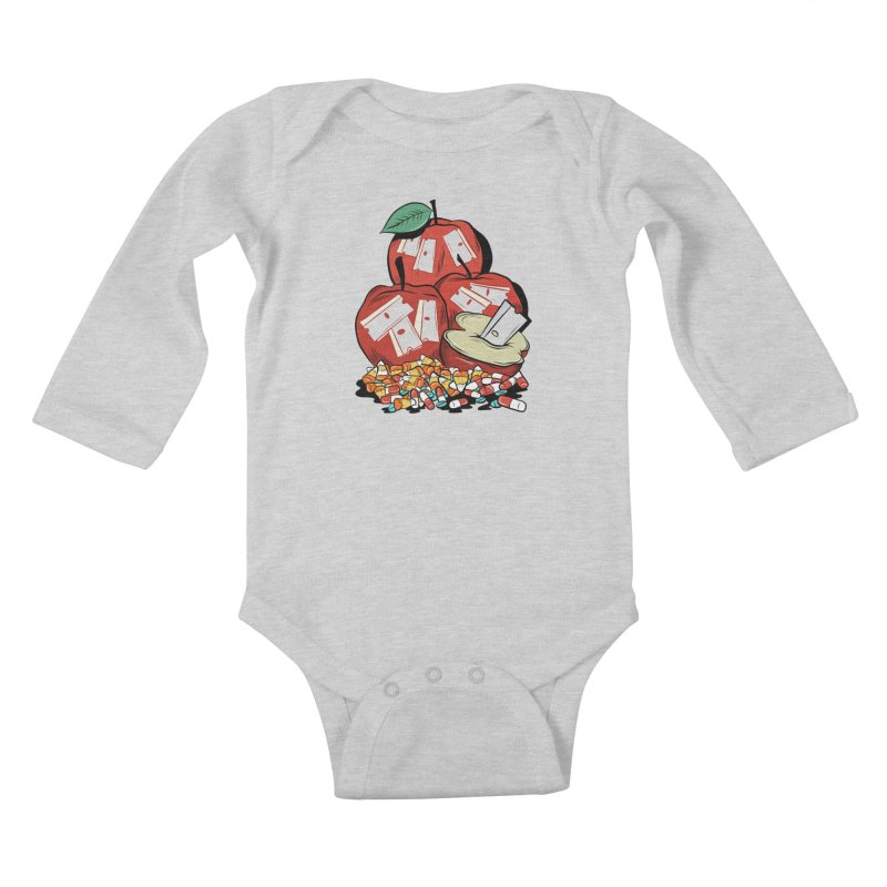 Trick or Treat Kids Baby Longsleeve Bodysuit by Pat Higgins Illustration
