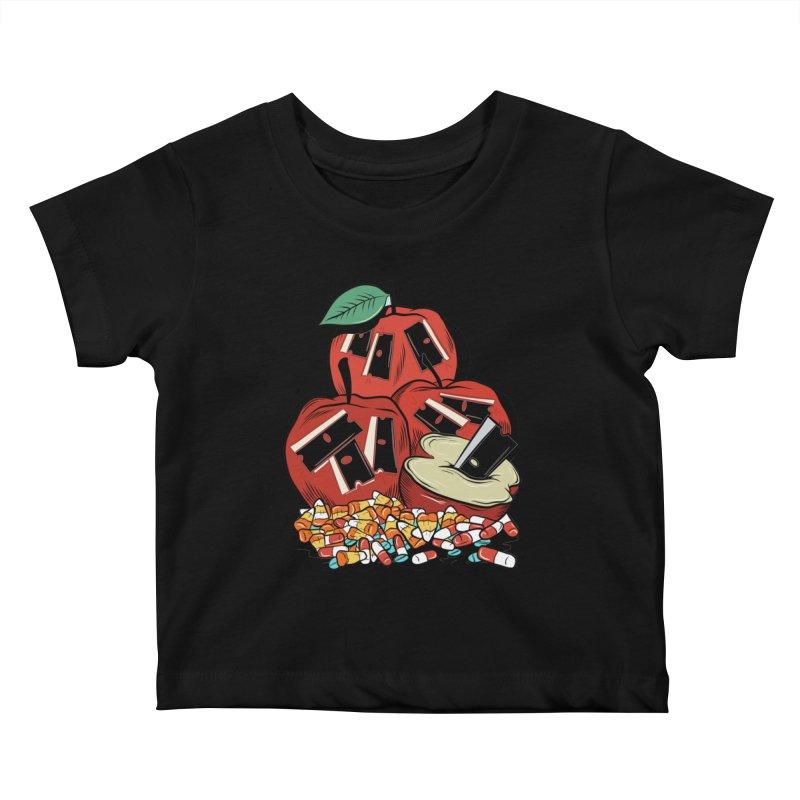 Trick or Treat Kids Baby T-Shirt by Pat Higgins Illustration