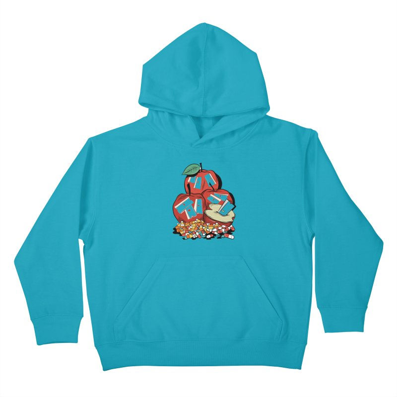 Trick or Treat Kids Pullover Hoody by Pat Higgins Illustration