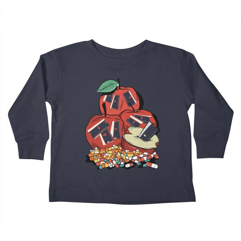 Trick or Treat Kids Toddler Longsleeve T-Shirt by Pat Higgins Illustration