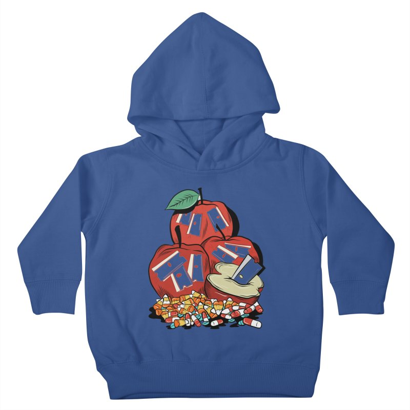 Trick or Treat Kids Toddler Pullover Hoody by Pat Higgins Illustration