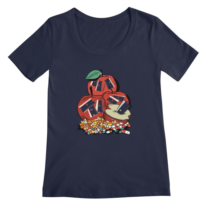 Trick or Treat Women's Scoopneck by Pat Higgins Illustration