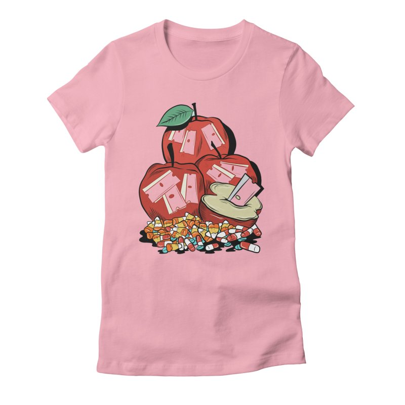 Trick or Treat Women's Fitted T-Shirt by Pat Higgins Illustration
