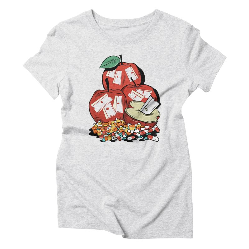 Trick or Treat Women's Triblend T-shirt by Pat Higgins Illustration