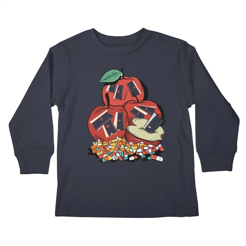 Trick or Treat Kids Longsleeve T-Shirt by Pat Higgins Illustration
