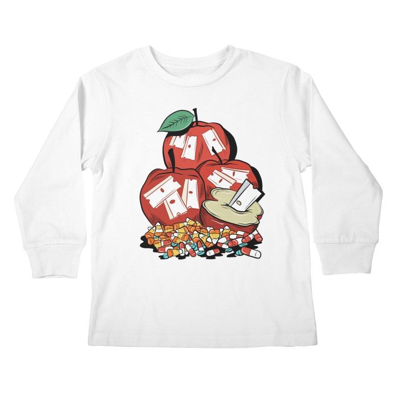 Trick or Treat Kids Longsleeve T-Shirt by Pat Higgins Illustration