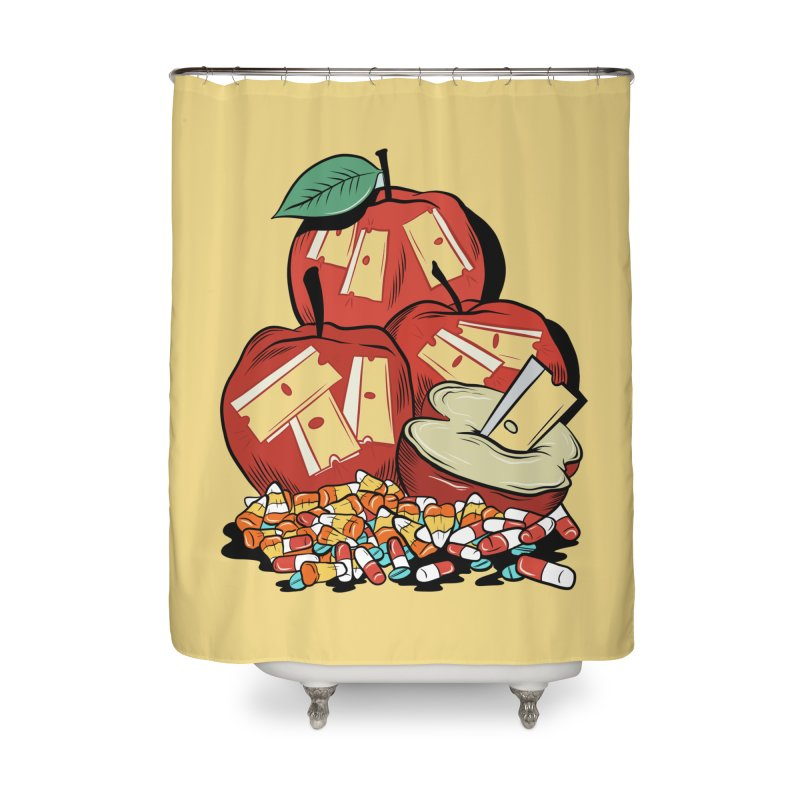 Trick or Treat Home Shower Curtain by Pat Higgins Illustration