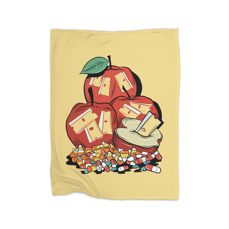 Trick or Treat Home Blanket by Pat Higgins Illustration