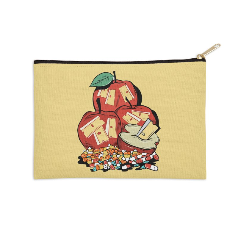 Trick or Treat Accessories Zip Pouch by Pat Higgins Illustration