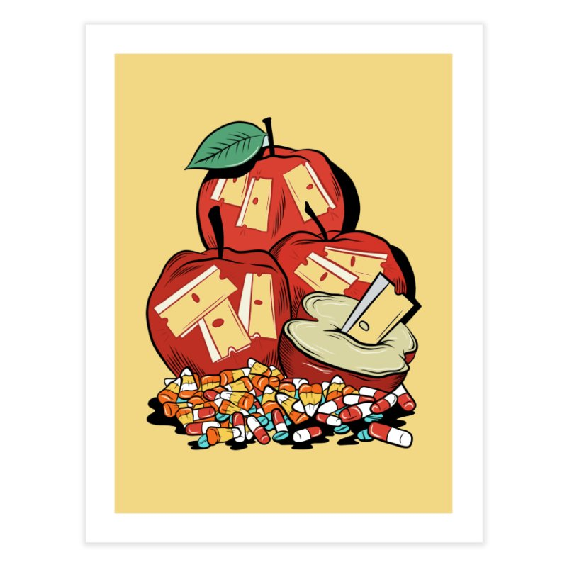 Trick or Treat Home Fine Art Print by Pat Higgins Illustration