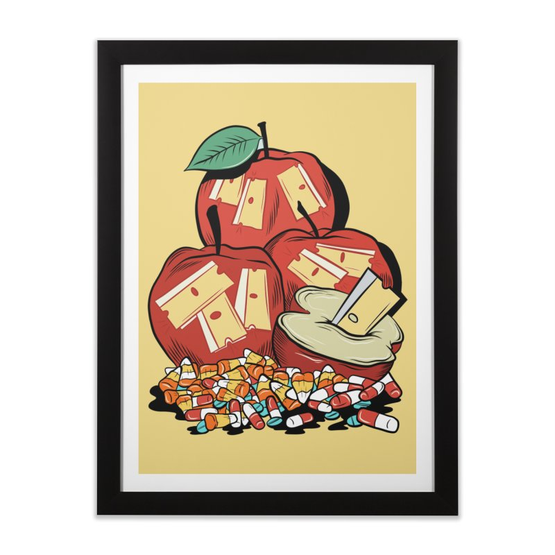Trick or Treat Home Framed Fine Art Print by Pat Higgins Illustration
