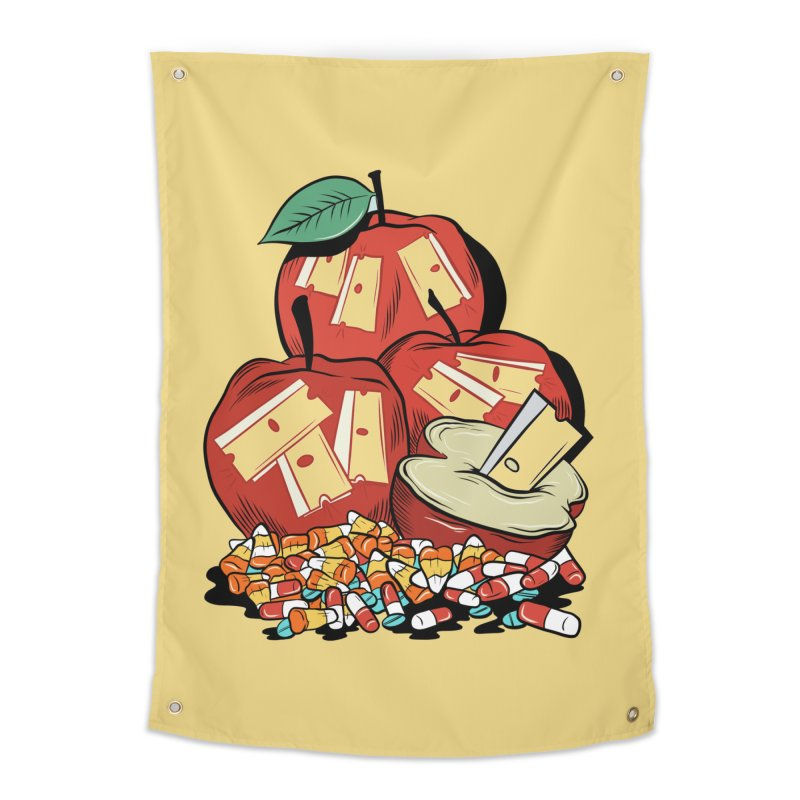 Trick or Treat Home Tapestry by Pat Higgins Illustration