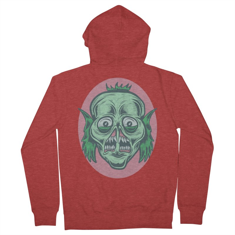 The Split Faced Creature Women's Zip-Up Hoody by Pat Higgins Illustration