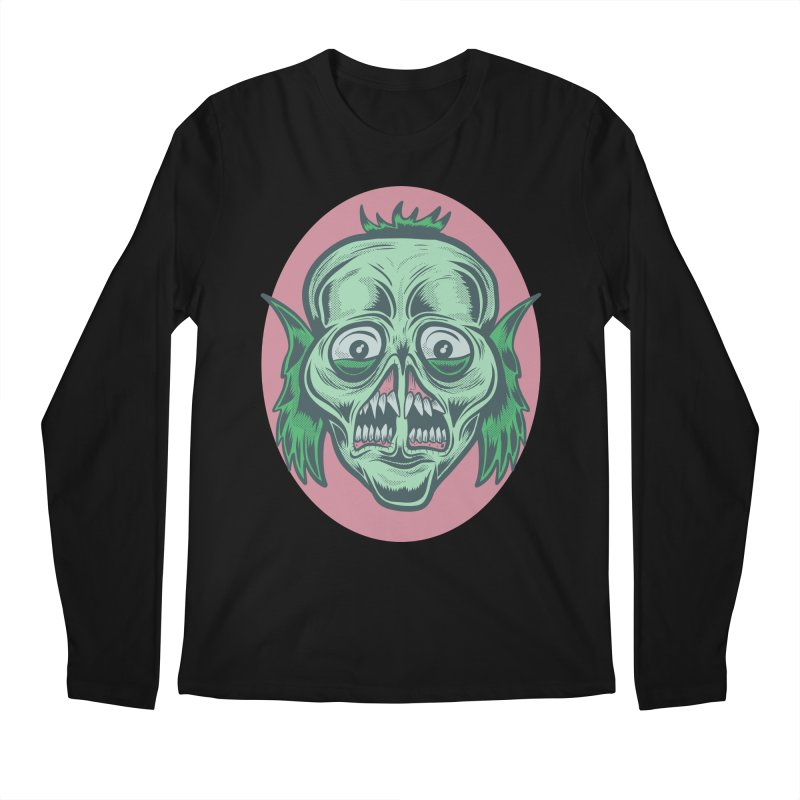 The Split Faced Creature Men's Longsleeve T-Shirt by Pat Higgins Illustration