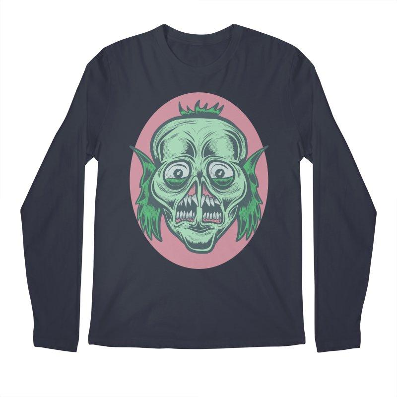 The Split Faced Creature Men's Longsleeve T-Shirt by Pat Higgins Illustration