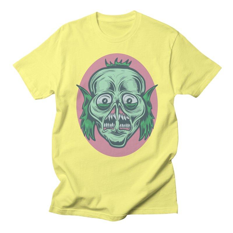 The Split Faced Creature Men's T-shirt by Pat Higgins Illustration