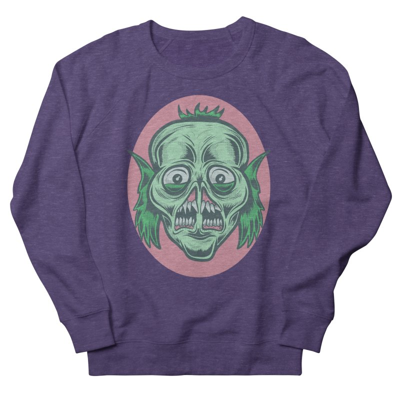 The Split Faced Creature Men's Sweatshirt by Pat Higgins Illustration
